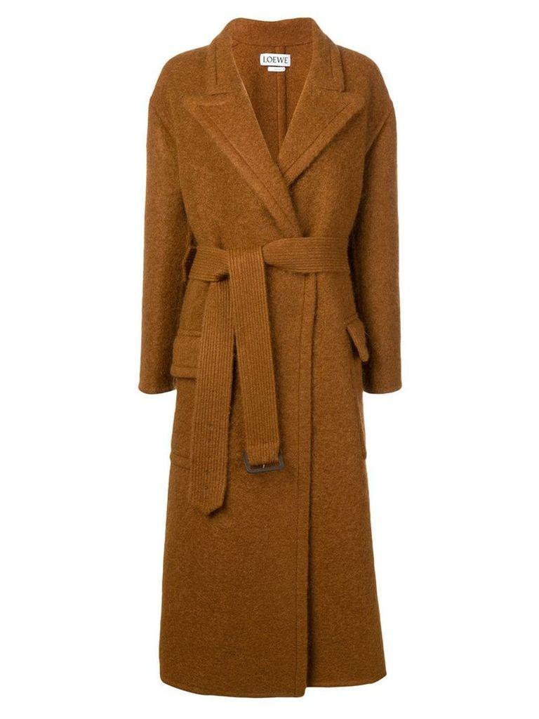 Loewe belted coat - Brown