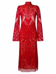 Galvan Oasis embroidered dress