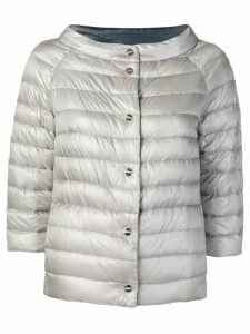 Herno grey quilted jacket