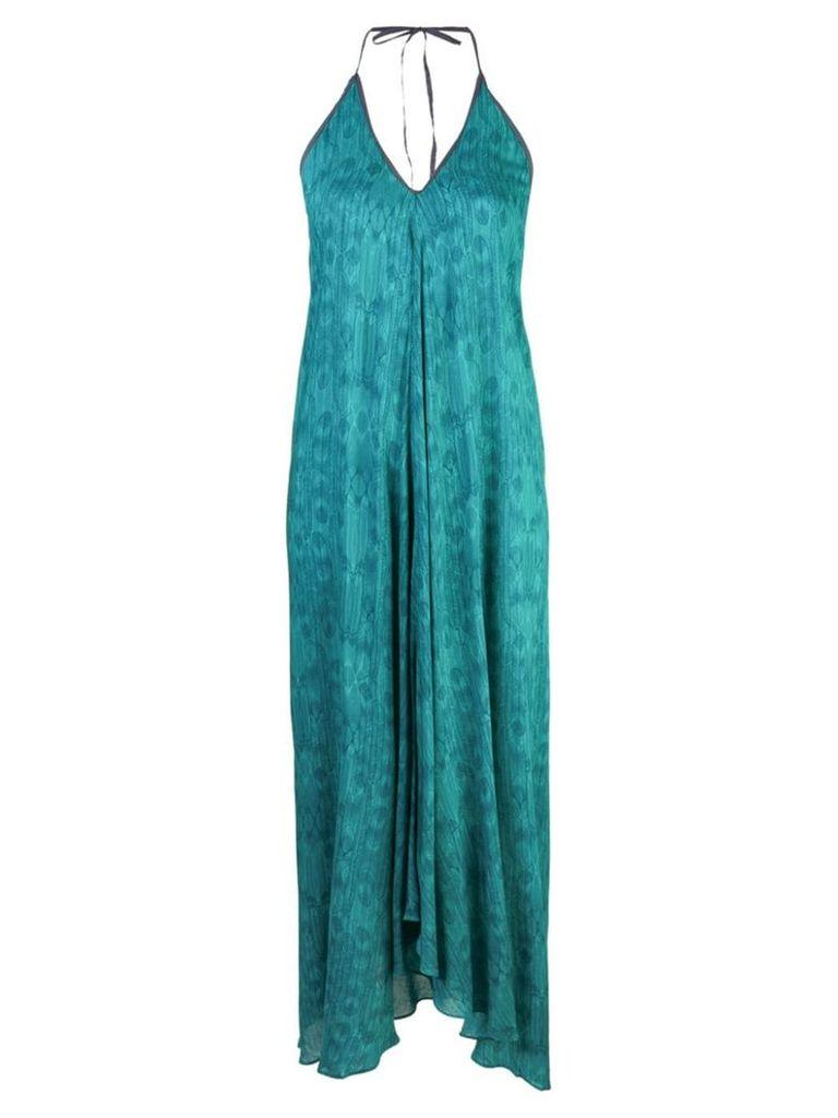 Hansine halter neck dress - Green