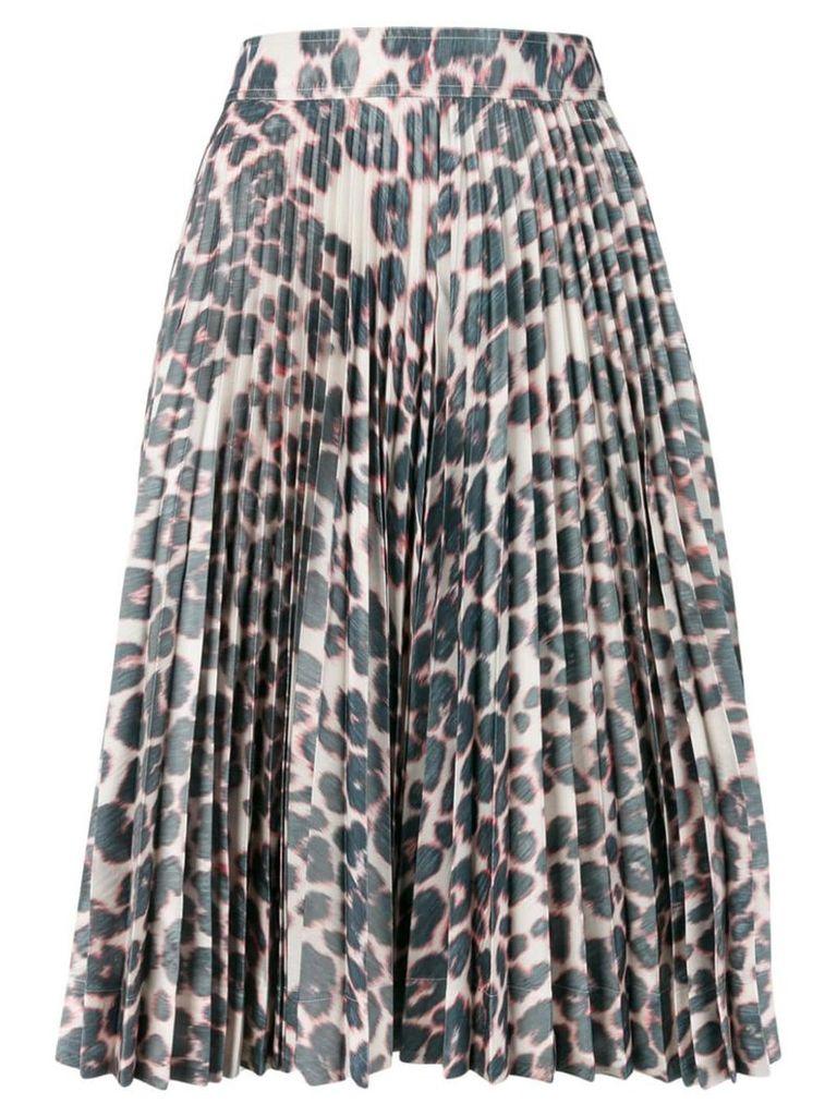 Calvin Klein 205W39nyc pleated leopard skirt - Grey