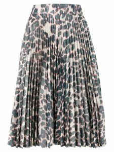 Calvin Klein 205W39nyc pleated leopard skirt - Grey