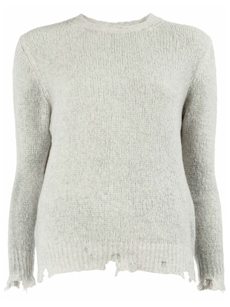Avant Toi distressed effect sweater - Grey