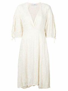 Iro embroidered v-neck dress - White