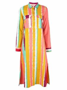 Le Sirenuse striped shirt dress - Multicolour