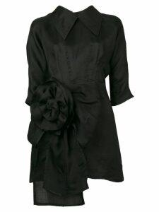 Miu Miu floral detail dress - Black