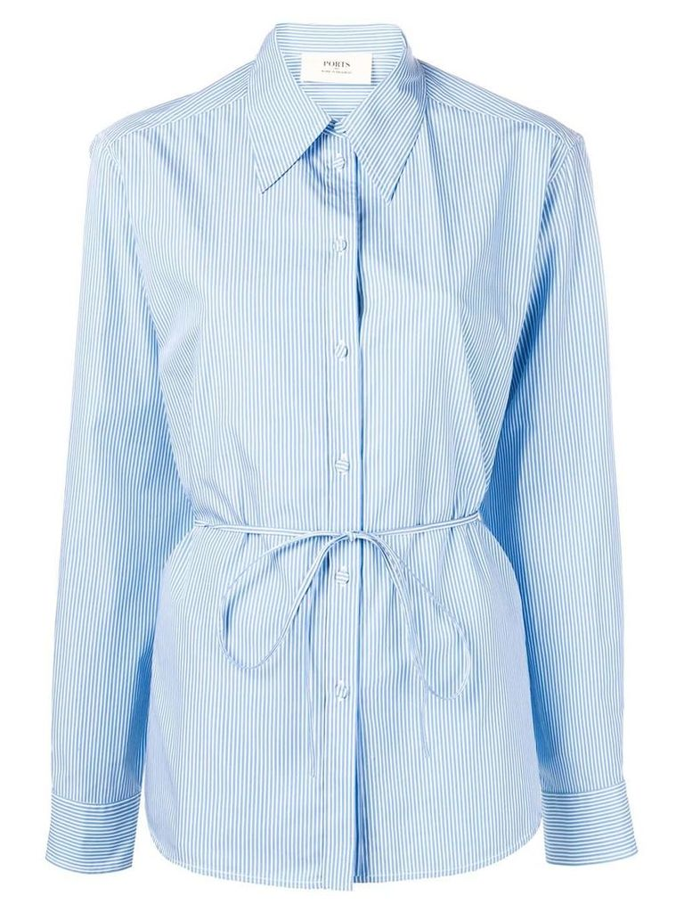 Ports 1961 fitted shirt with pinstripes - Blue