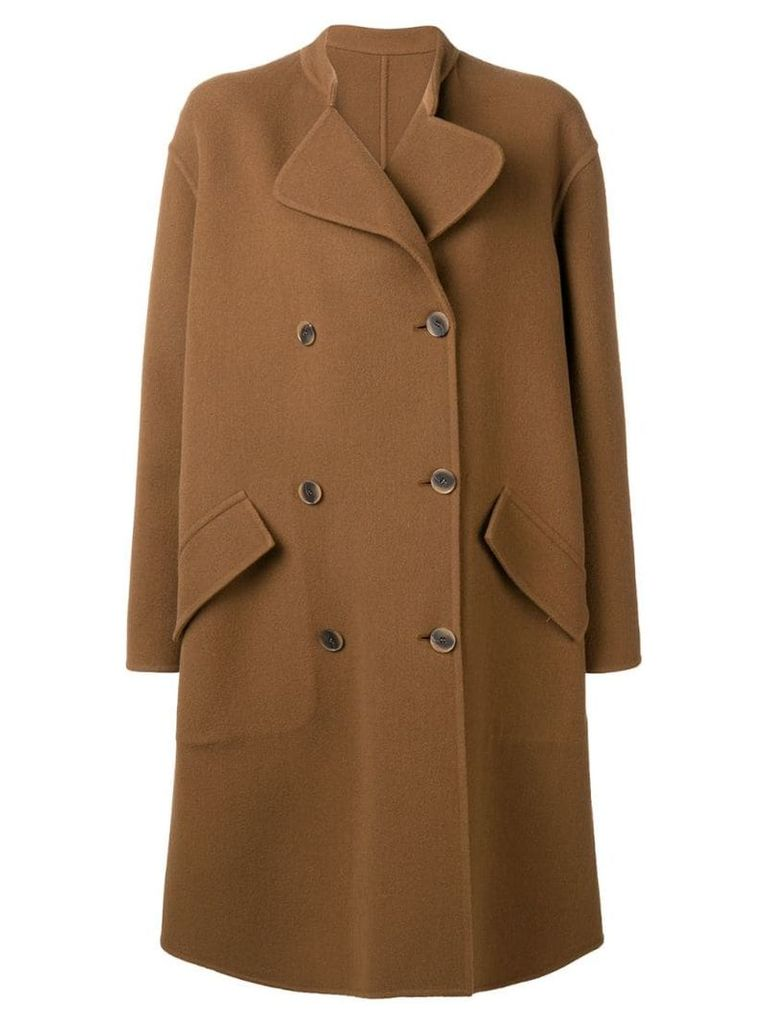 Ports 1961 classic coccon coat - Brown