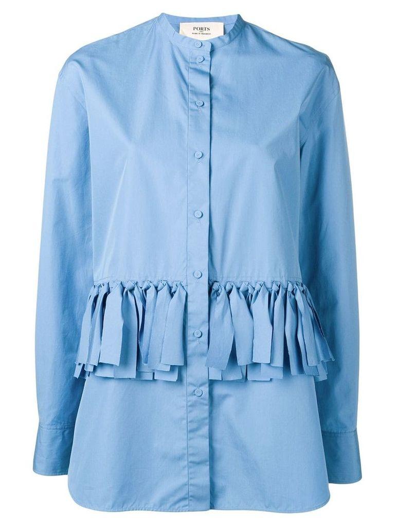 Ports 1961 strappy design shirt - Blue