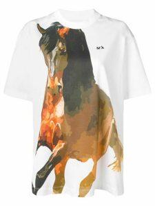 Marques'Almeida Horse print T-shirt - White
