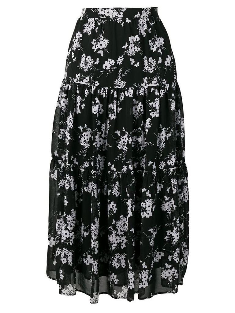 Michael Michael Kors botanical print high-waist skirt - Black