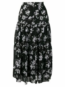 Michael Michael Kors botanical print high-waist skirt - Black