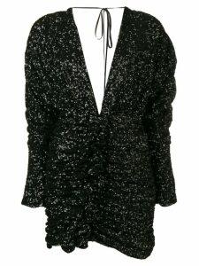 Attico black sequin dress