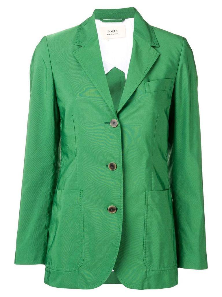 Ports 1961 classic single-breasted blazer - Green