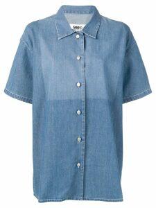 Mm6 Maison Margiela bleached jeans shirt - Blue
