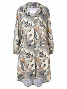 Fabiana Filippi printed parka coat - Neutrals