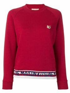 Maison Kitsuné fox head patch sweatshirt - Red
