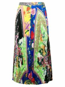Versace Acid bloom print skirt - Yellow