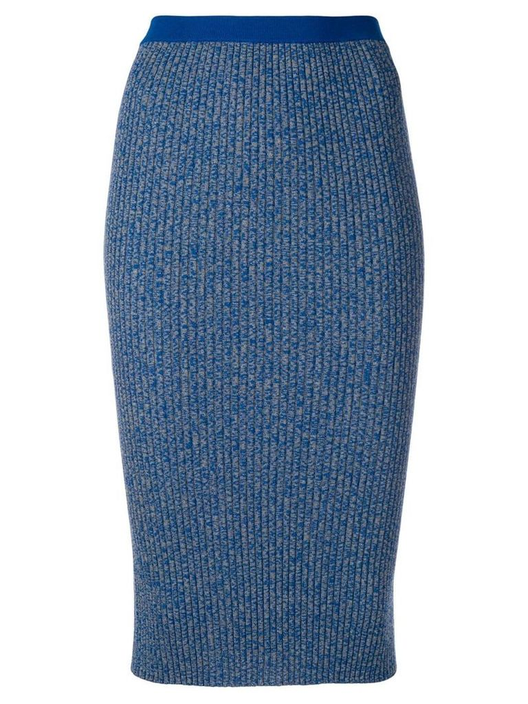 Ports 1961 ribbed pencil skirt - Blue