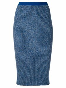 Ports 1961 ribbed pencil skirt - Blue