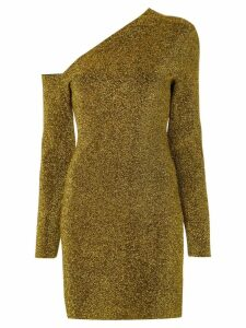 Solace London one shoulder dress - GOLD