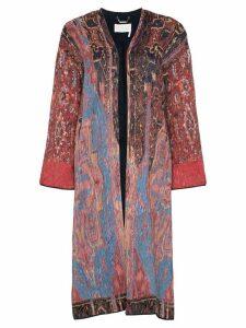 Chloé scarf print coat - Red
