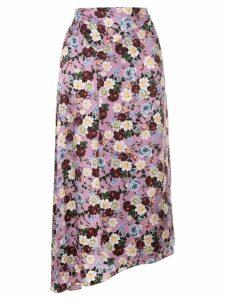 Erdem Tamzin floral skirt - Purple