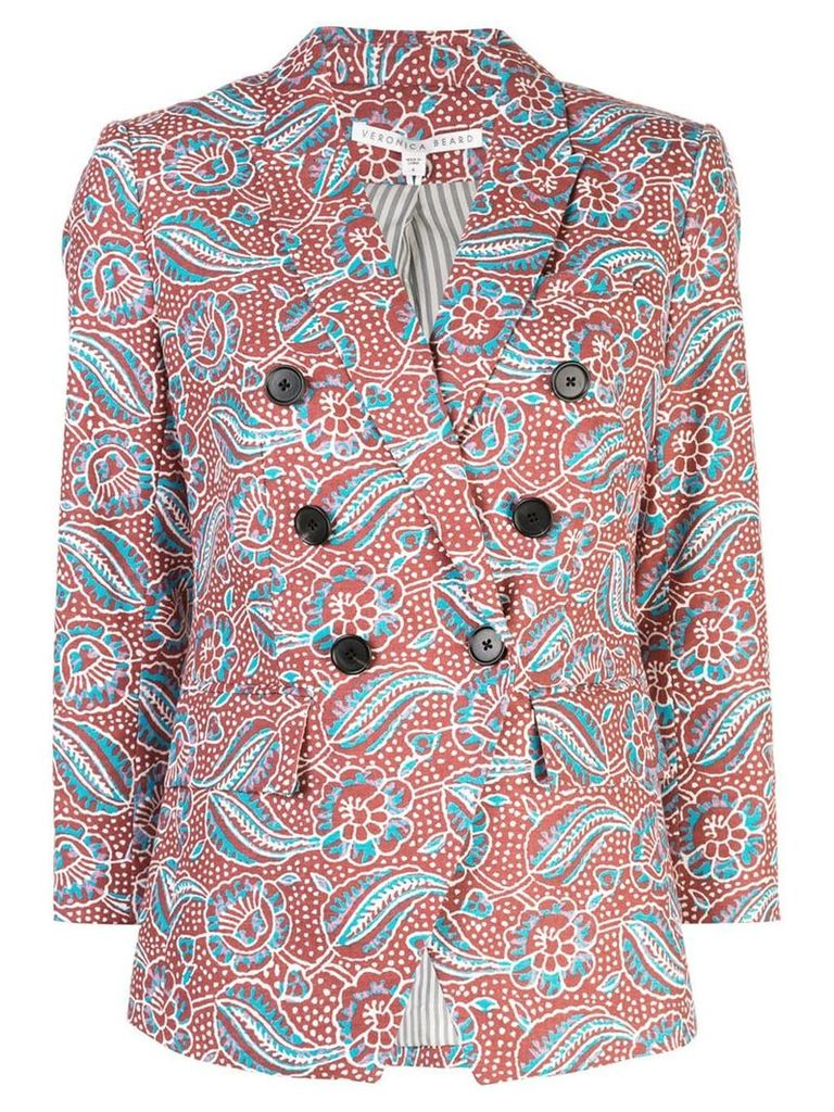 Veronica Beard double buttoned blazer - Multicolour