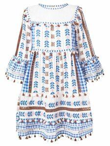 Dodo Bar Or embroidered tassel mini dress - Blue