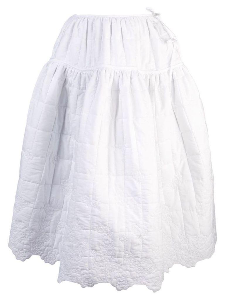 Cecilie Bahnsen Rosie A-line skirt - White