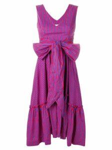 P.A.R.O.S.H. Camillo striped flared dress - Blue