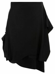 JW Anderson ASYMMETRIC SKIRT WITH GATHERED CUFF - Black