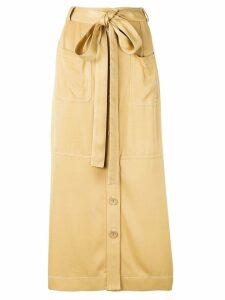 See By Chloé tie waist skirt - NEUTRALS