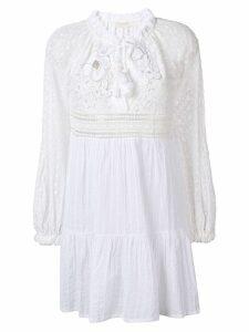 Anjuna Nicoletta lace embroidered dress - White