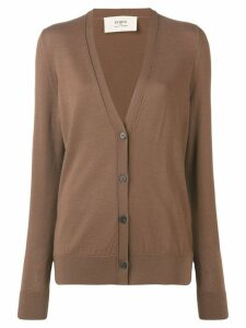 Ports 1961 button V-neck cardigan - Brown