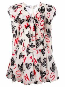 Moschino heart print dress - White