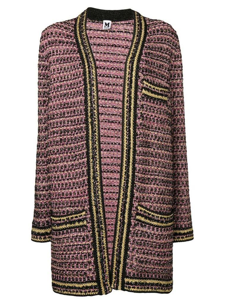 M Missoni metallic knit cardi-coat - Pink