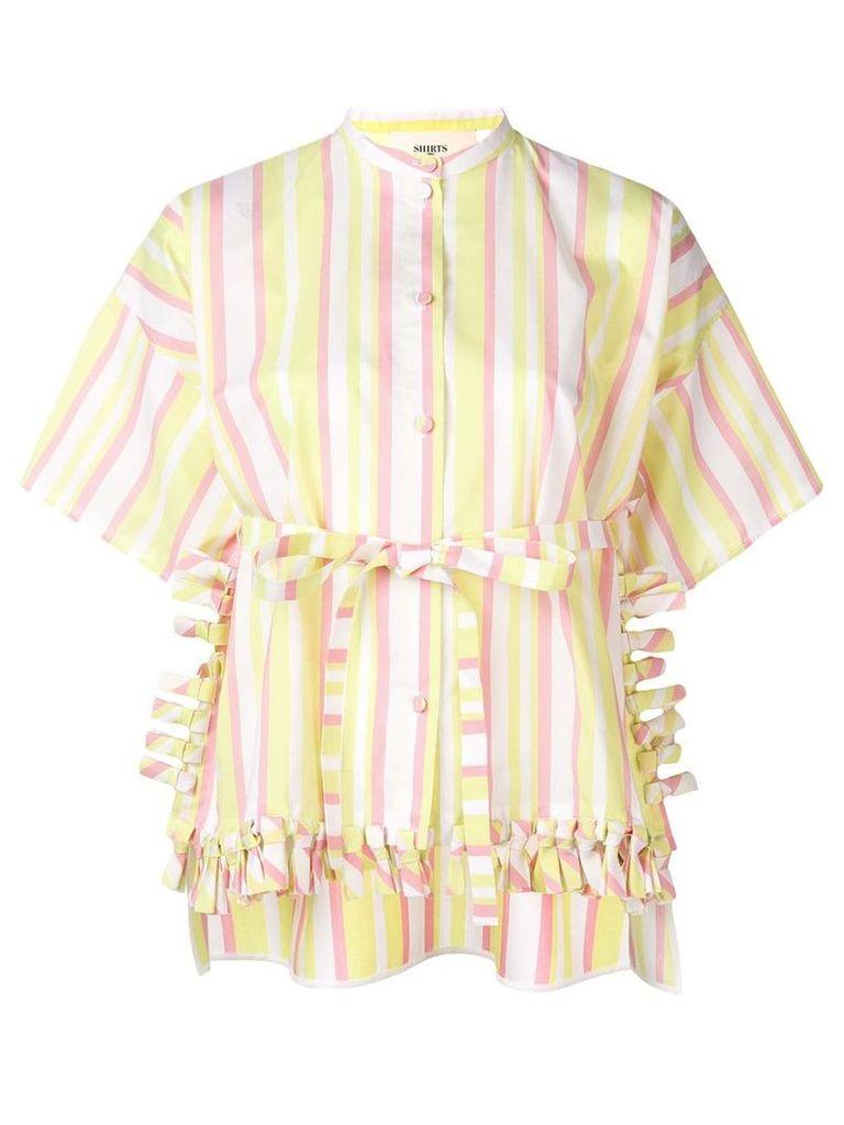 Ports 1961 striped ruffle shirt - Yellow