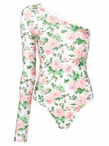 Melampo one-shoulder bodysuit - White