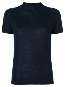 N.Peal superfine mock neck T-shirt - Blue
