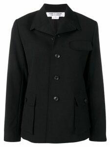 Comme Des Garçons Comme Des Garçons sctructured fitted blazer - Black