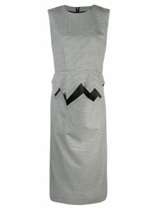 Comme Des Garçons houndstooth pencil dress - Black