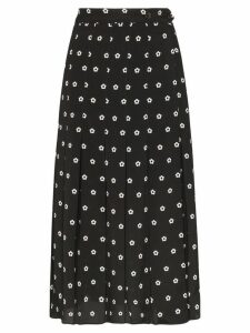 Sandy Liang floral polka dot print uniform skort - Black