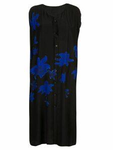 Yohji Yamamoto printed shirt dress - Black