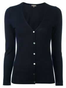 N.Peal cashmere button up cardigan - Blue