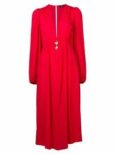 Elisabetta Franchi deep V-neck dress - Pink