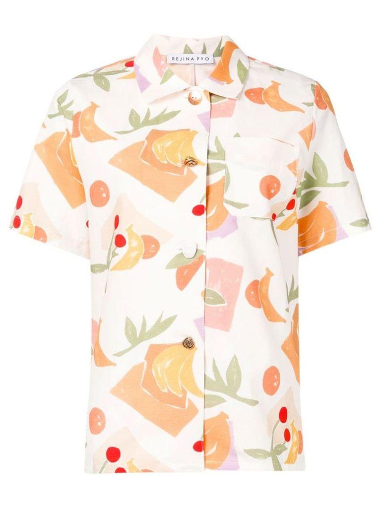 Rejina Pyo fruit print shirt - White