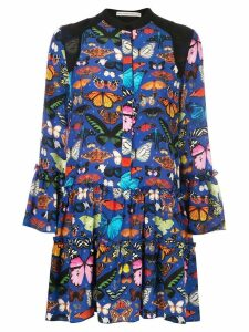 Mary Katrantzou Shalini butterfly print dress - Blue