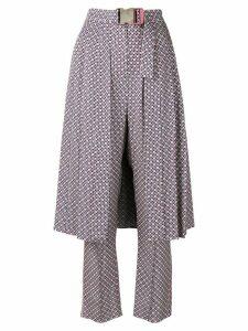 Fendi overlaying half-skirt trousers - Pink