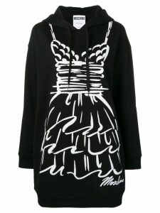 Moschino graphic hoody dress - Black
